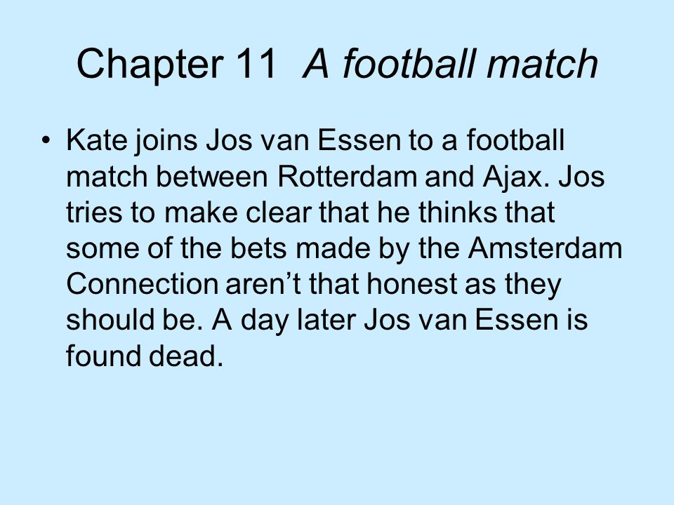 Chapter 11 A football match