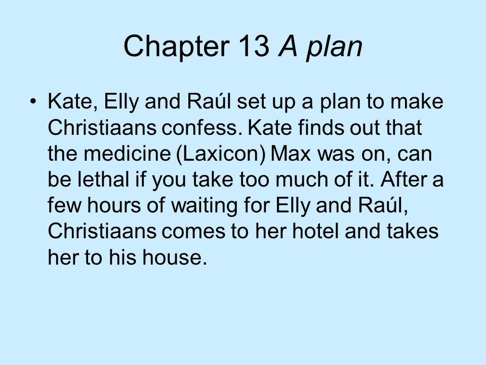 Chapter 13 A plan