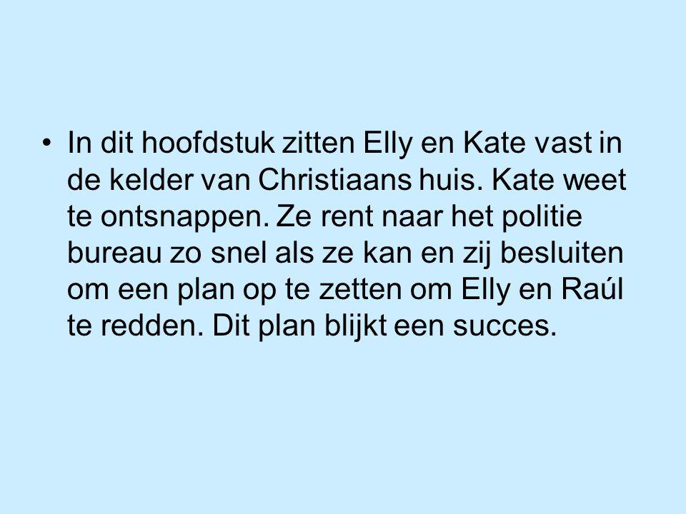 In dit hoofdstuk zitten Elly en Kate vast in de kelder van Christiaans huis.