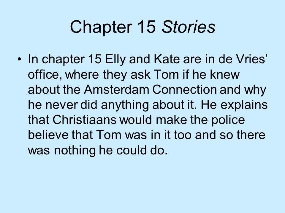 Chapter 15 Stories