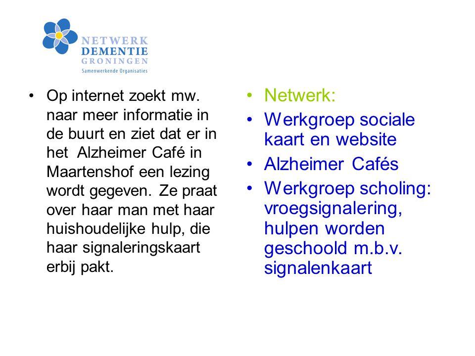 Werkgroep sociale kaart en website Alzheimer Cafés