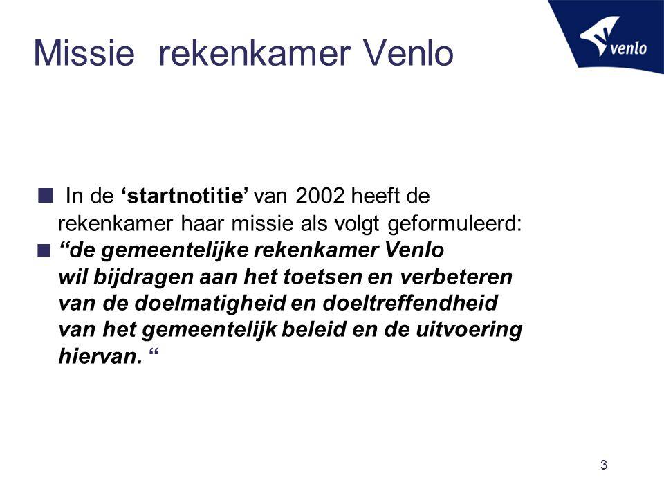 Missie rekenkamer Venlo