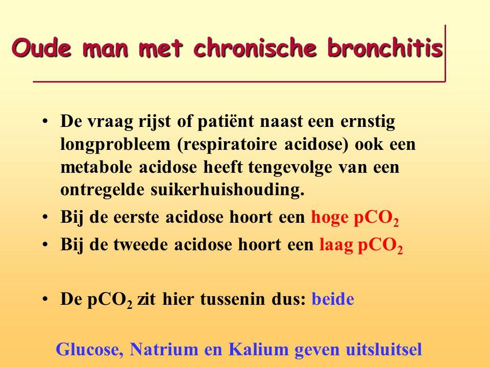 Oude man met chronische bronchitis