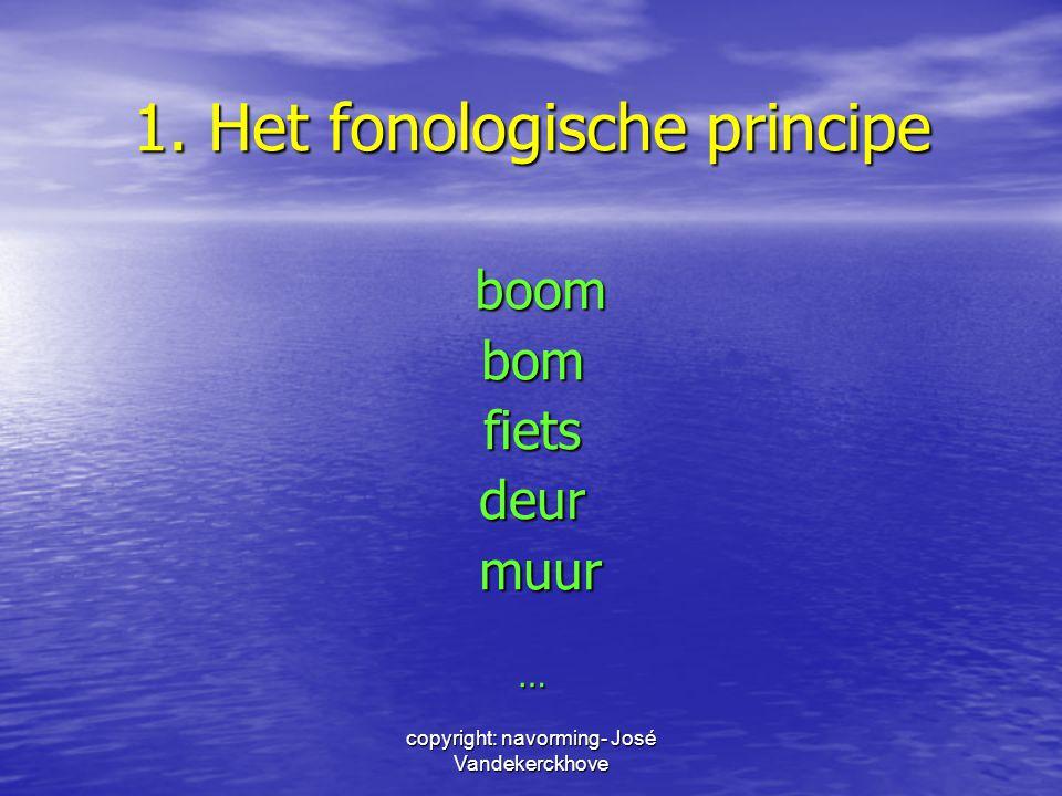 1. Het fonologische principe