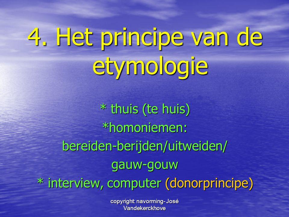 4. Het principe van de etymologie