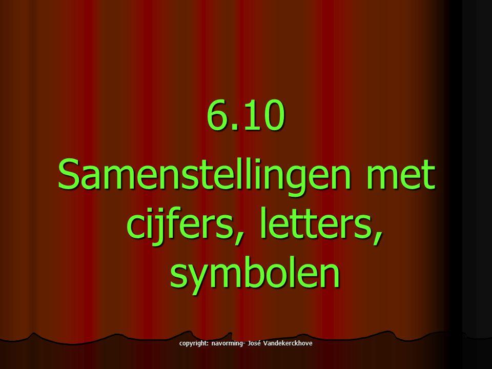 Samenstellingen met cijfers, letters, symbolen