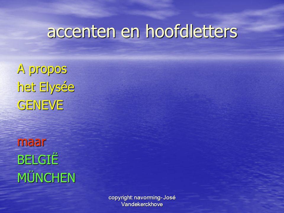 accenten en hoofdletters