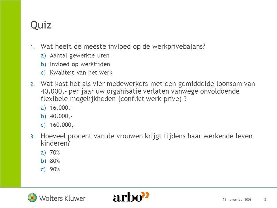 Quiz Wat heeft de meeste invloed op de werkprivebalans