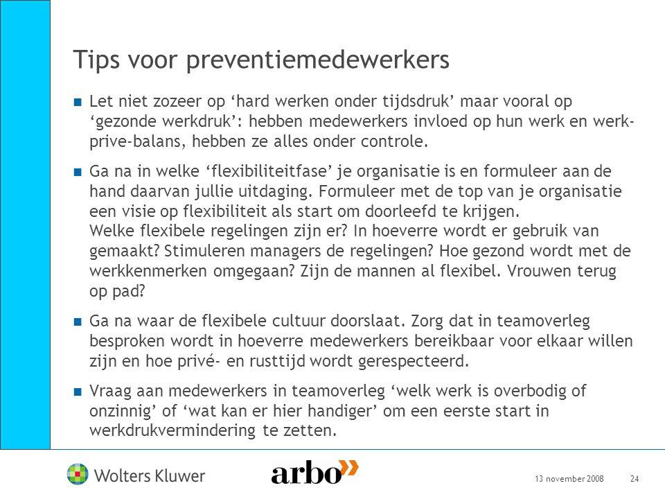 Tips voor preventiemedewerkers