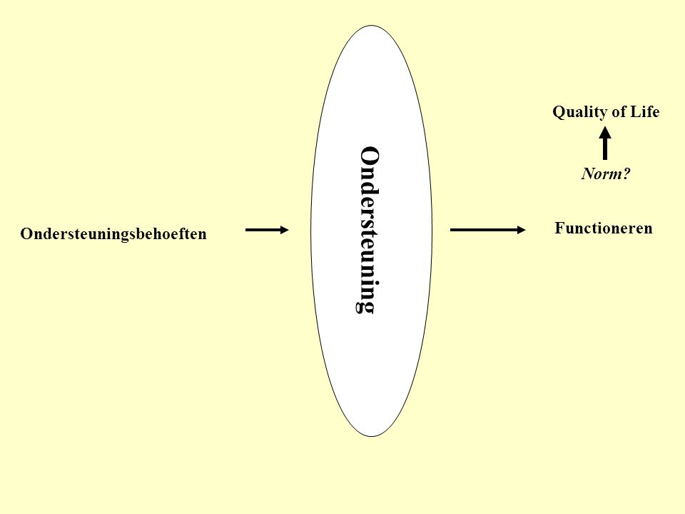 Ondersteuning Quality of Life Norm Functioneren