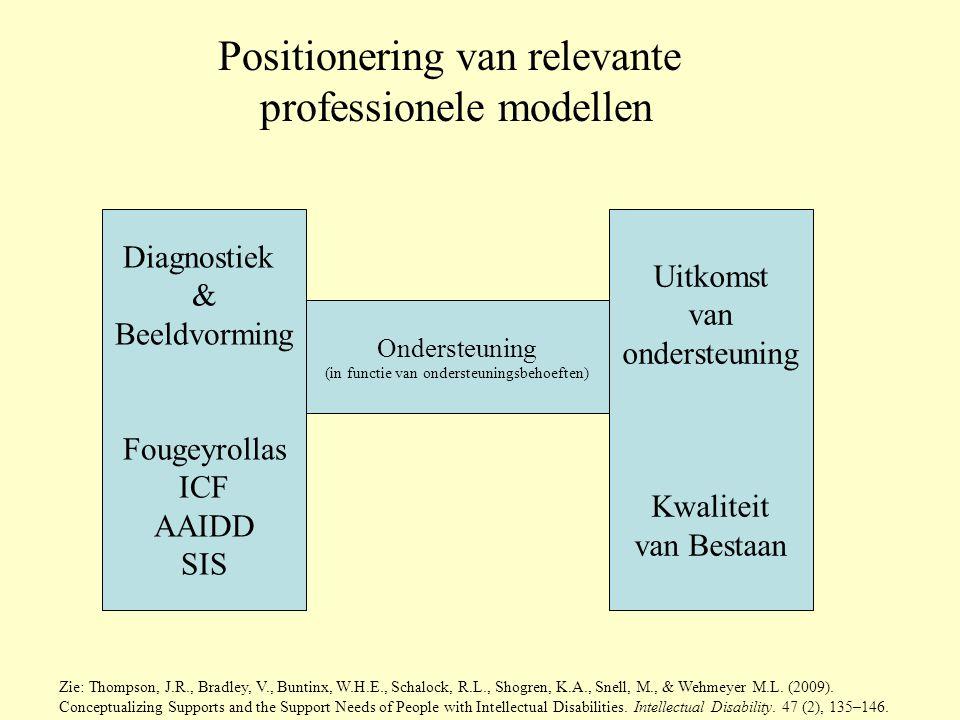 Positionering van relevante professionele modellen