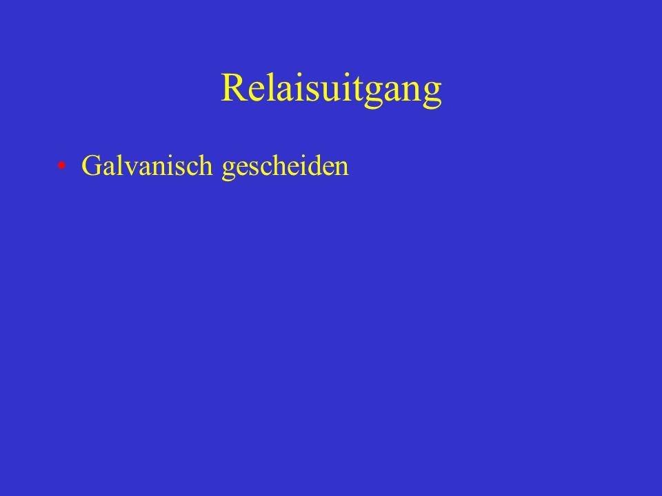 Relaisuitgang Galvanisch gescheiden