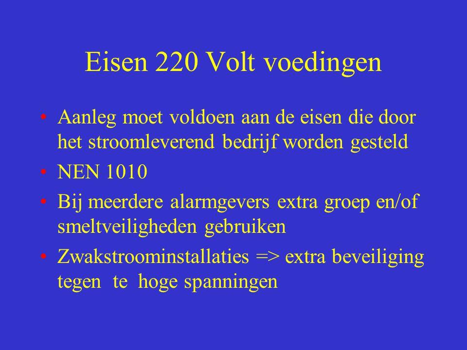 Eisen 220 Volt voedingen Aanleg moet voldoen aan de eisen die door het stroomleverend bedrijf worden gesteld.