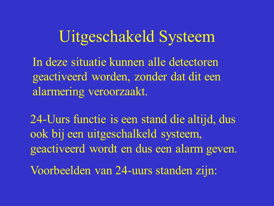 Uitgeschakeld Systeem