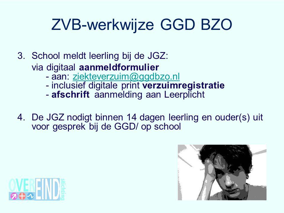 ZVB-werkwijze GGD BZO School meldt leerling bij de JGZ: