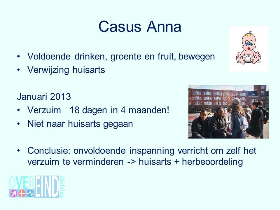 Casus Anna Voldoende drinken, groente en fruit, bewegen