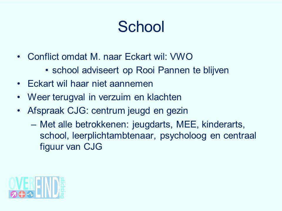 School Conflict omdat M. naar Eckart wil: VWO