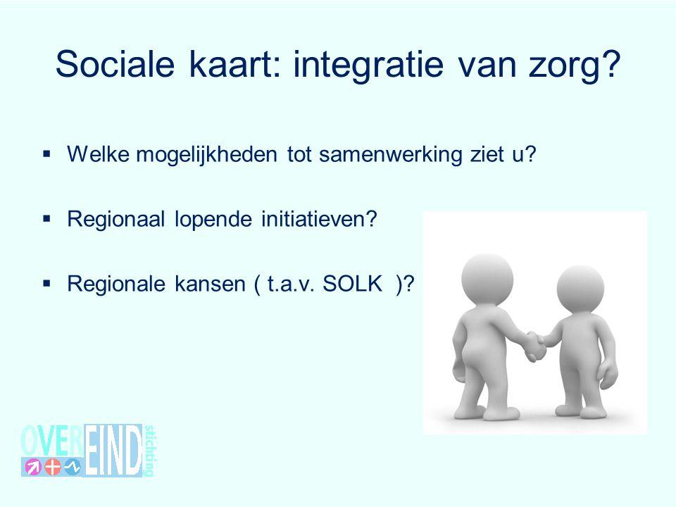 Sociale kaart: integratie van zorg