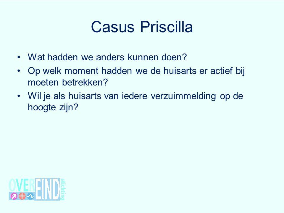 Casus Priscilla Wat hadden we anders kunnen doen