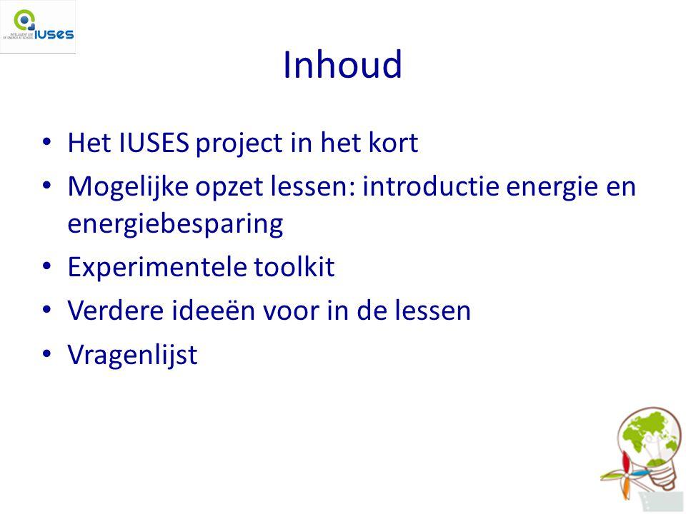 Inhoud Het IUSES project in het kort