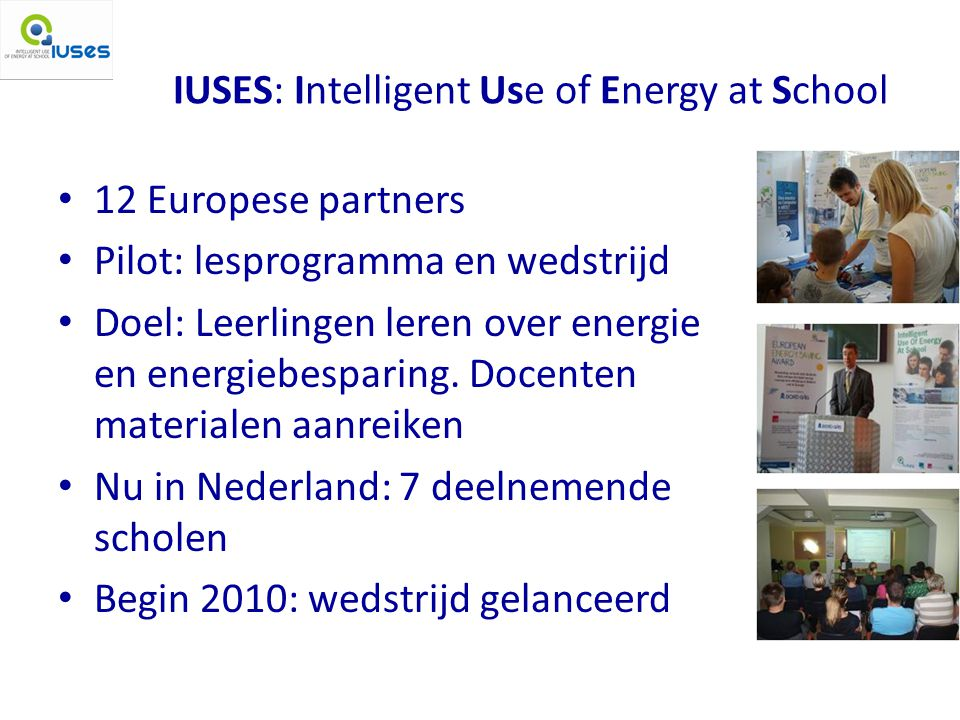 IUSES: Intelligent Use of Energy at School
