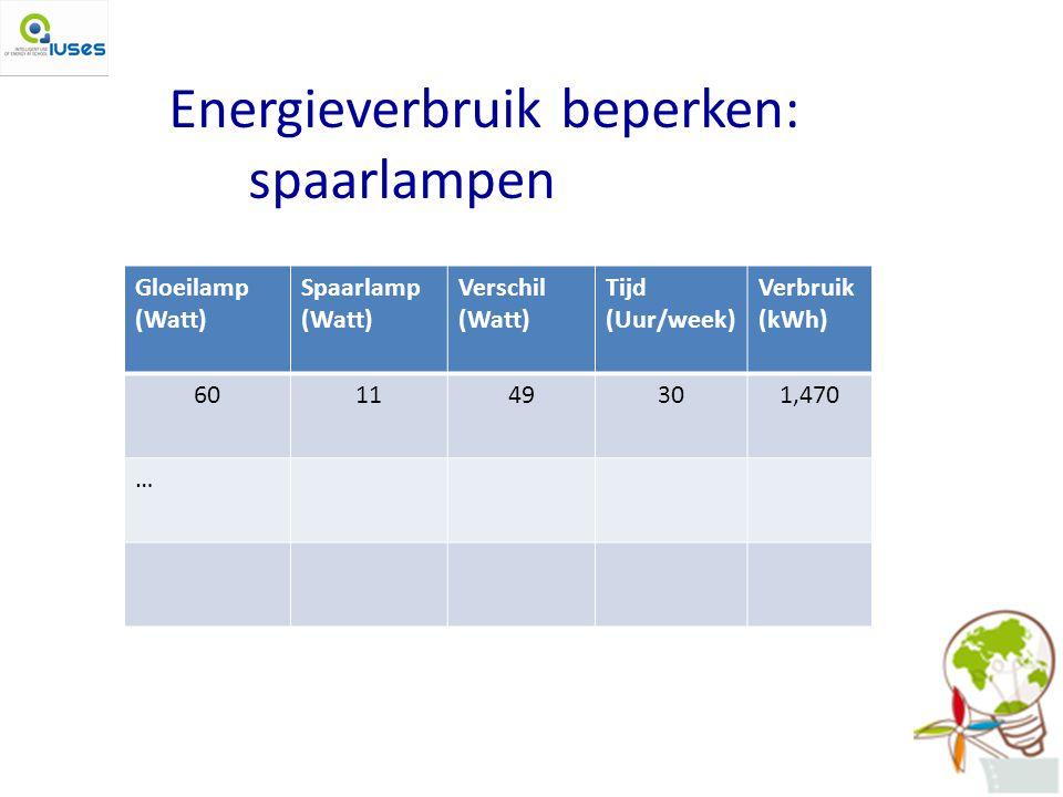 Energieverbruik beperken: spaarlampen