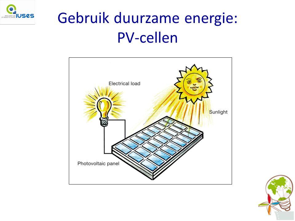 Gebruik duurzame energie: PV-cellen