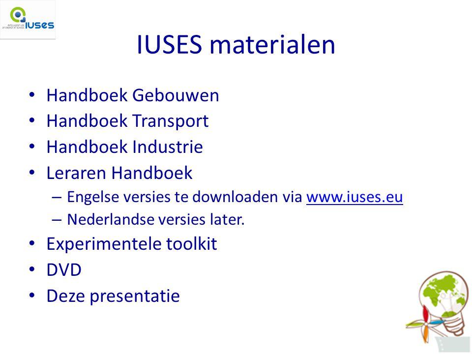 IUSES materialen Handboek Gebouwen Handboek Transport