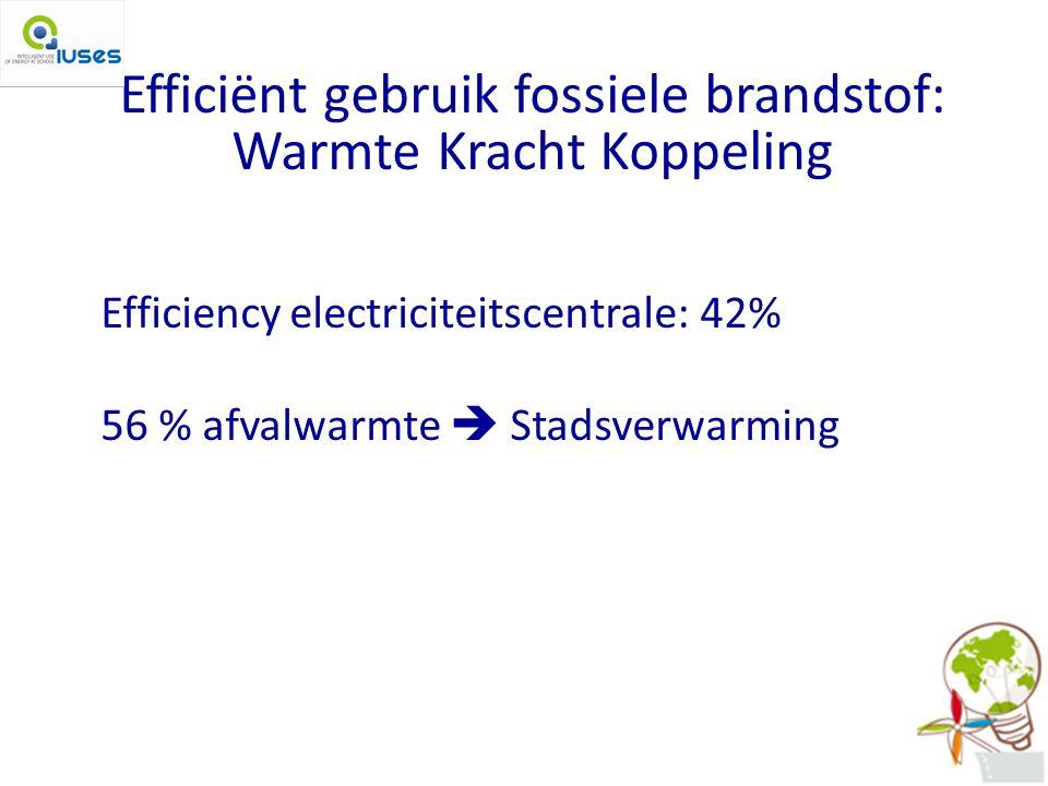 Efficiënt gebruik fossiele brandstof: Warmte Kracht Koppeling