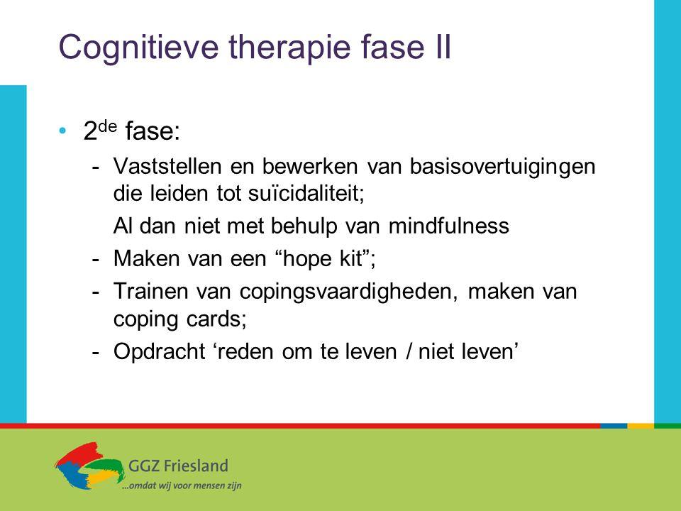 Cognitieve therapie fase II