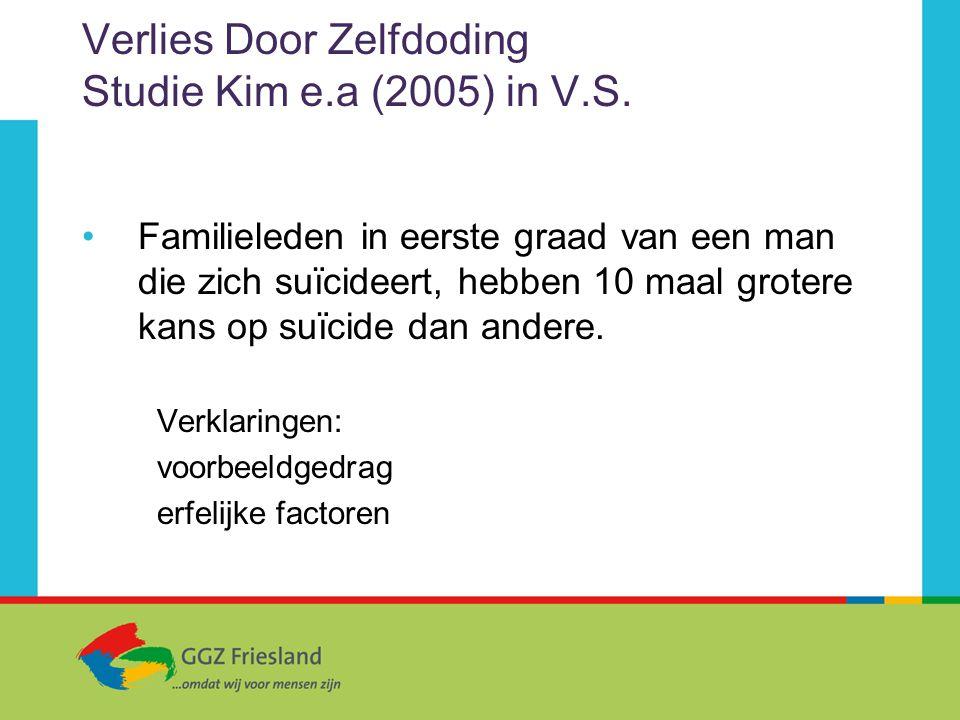 Verlies Door Zelfdoding Studie Kim e.a (2005) in V.S.