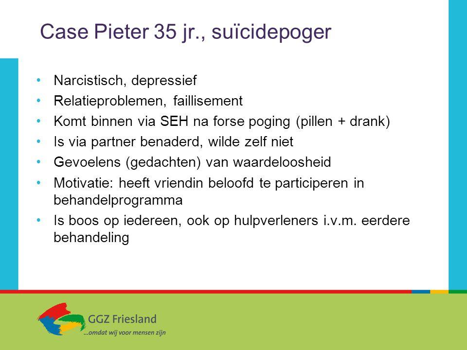 Case Pieter 35 jr., suïcidepoger