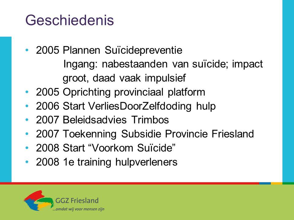 Geschiedenis 2005 Plannen Suïcidepreventie