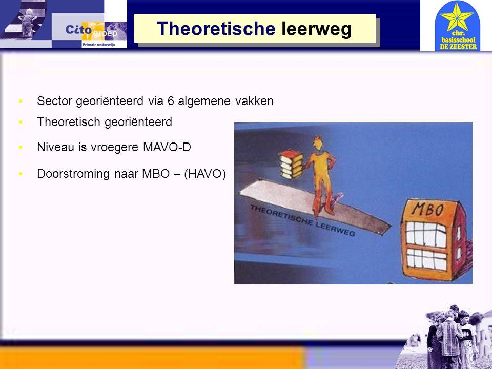 Theoretische leerweg VMBO - Theoretisch 6 algemene vakken