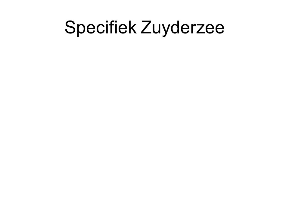 Specifiek Zuyderzee