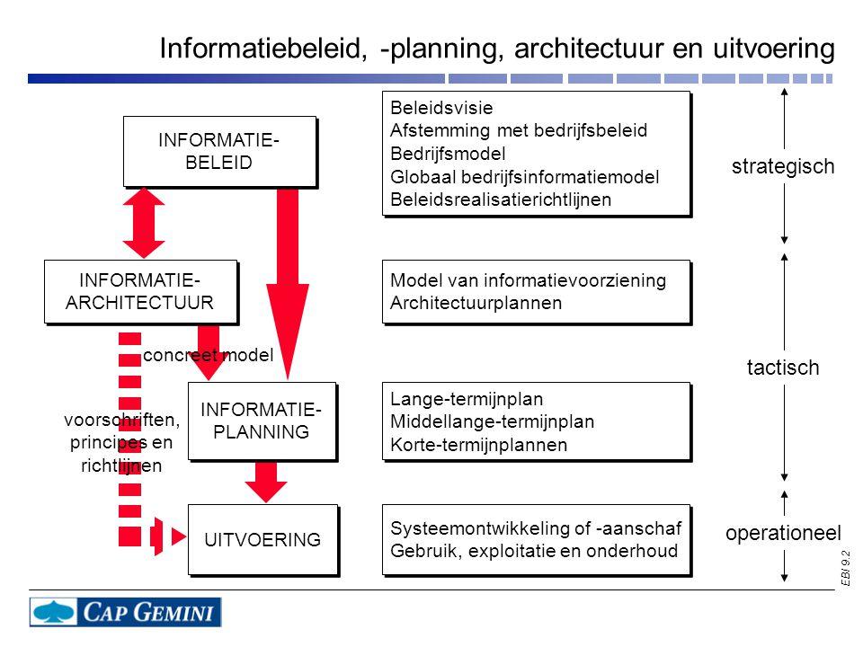 Informatiebeleid, -planning, architectuur en uitvoering