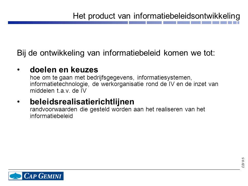 Het product van informatiebeleidsontwikkeling
