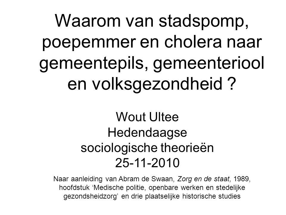 Wout Ultee Hedendaagse sociologische theorieën 25-11-2010