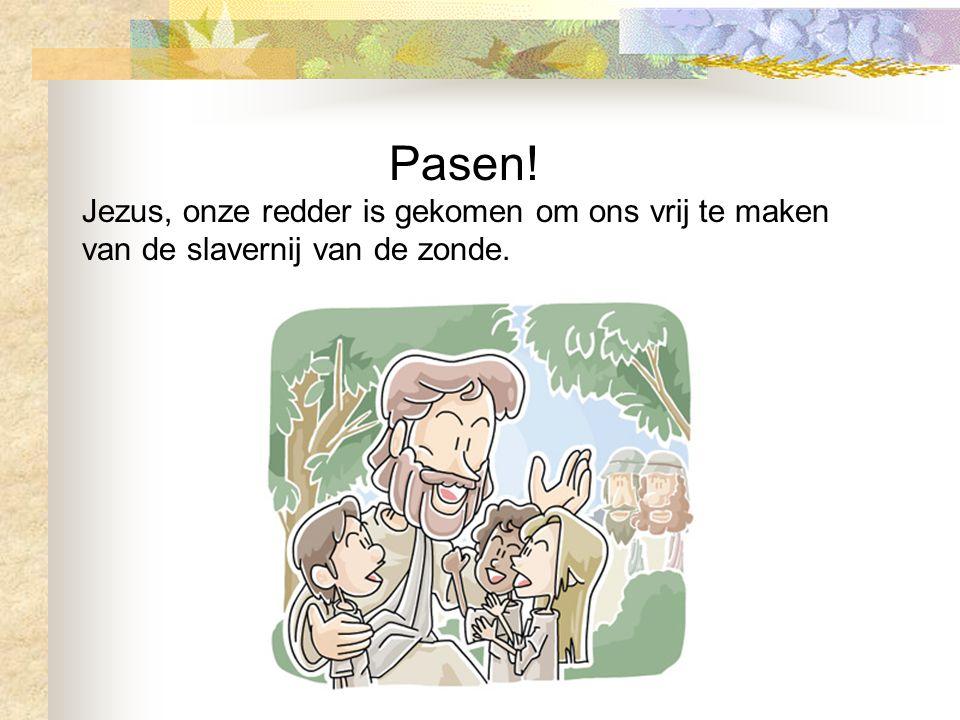 Pasen! Jezus, onze redder is gekomen om ons vrij te maken van de slavernij van de zonde.