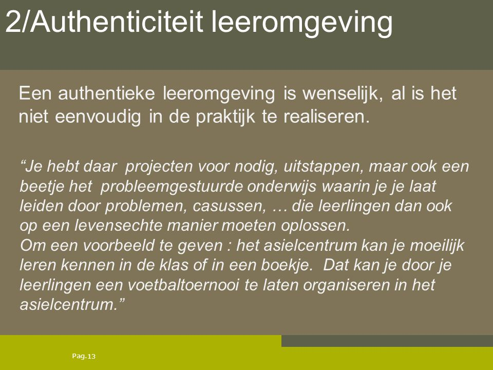 2/Authenticiteit leeromgeving