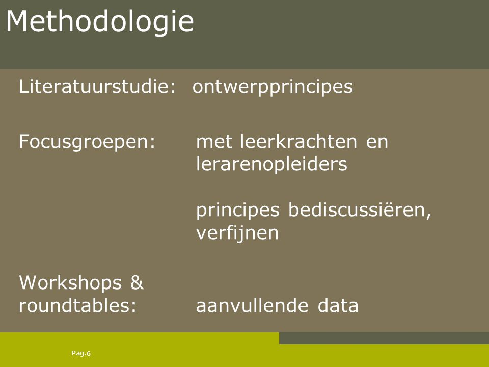 Methodologie Literatuurstudie: ontwerpprincipes