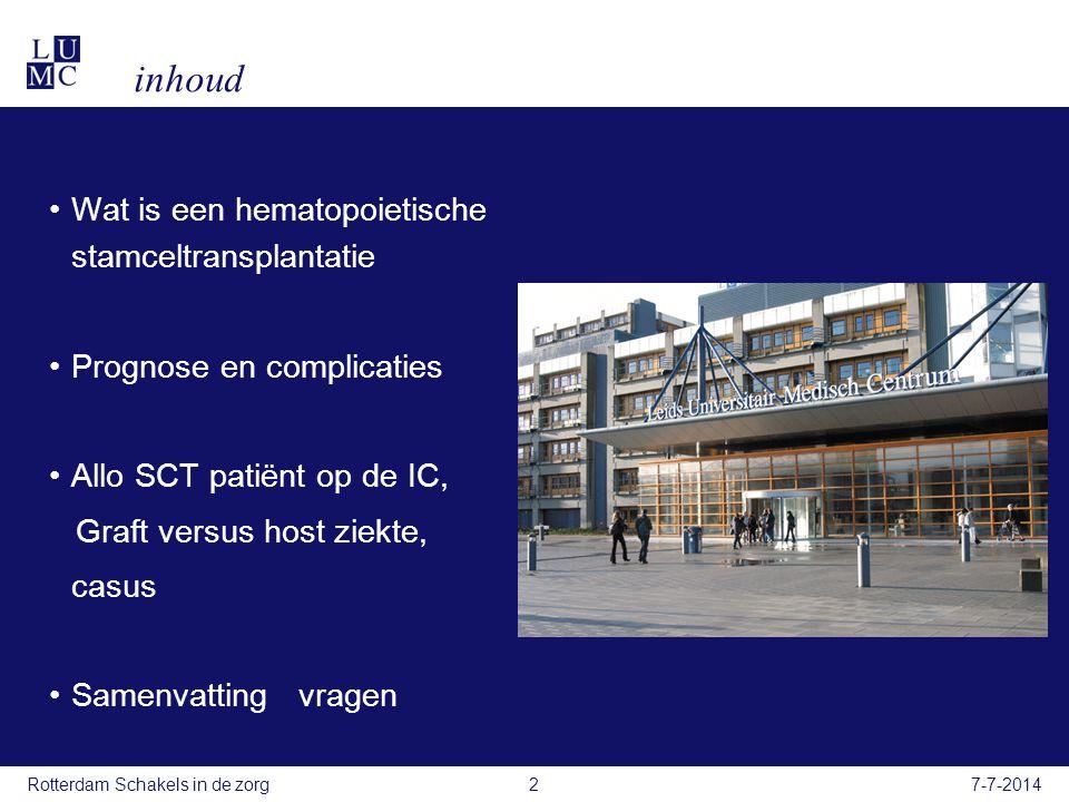 inhoud Wat is een hematopoietische stamceltransplantatie