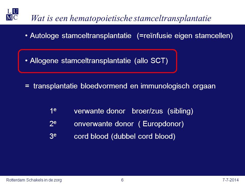 Wat is een hematopoietische stamceltransplantatie