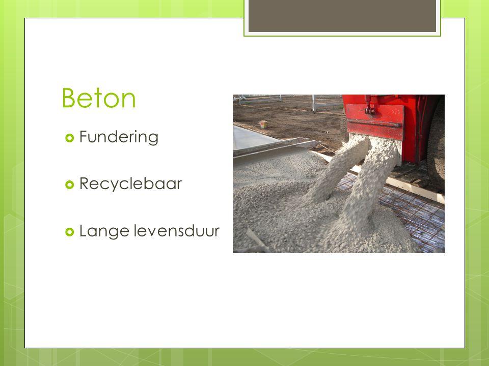 Beton Fundering Recyclebaar Lange levensduur