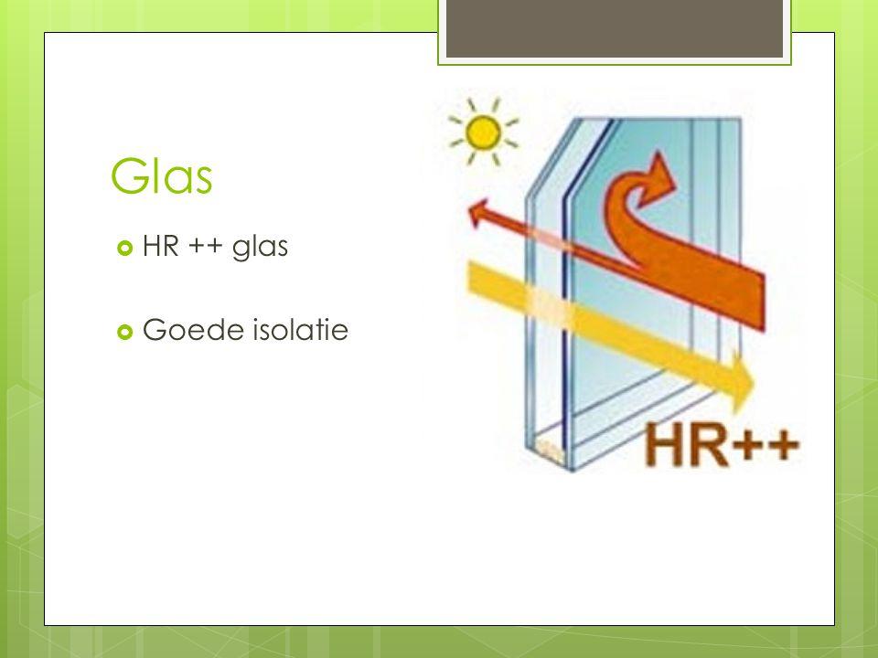 Glas HR ++ glas Goede isolatie