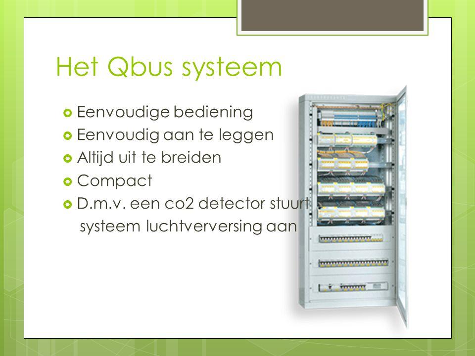 Het Qbus systeem Eenvoudige bediening Eenvoudig aan te leggen
