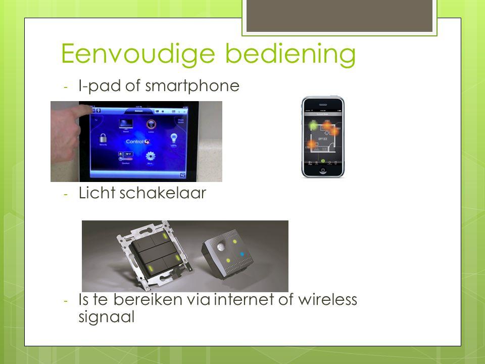 Eenvoudige bediening I-pad of smartphone Licht schakelaar