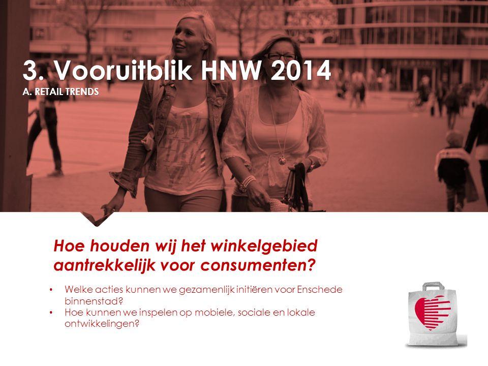 3. Vooruitblik HNW 2014 A. RETAIL TRENDS. Hoe houden wij het winkelgebied aantrekkelijk voor consumenten
