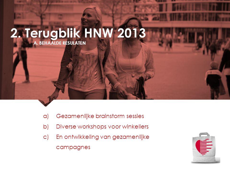 2. Terugblik HNW 2013 Gezamenlijke brainstorm sessies
