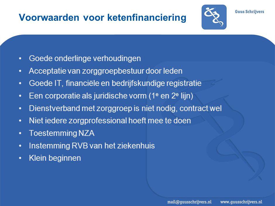 Voordelen van ketenfinanciering ten opzichte van bestaande situatie